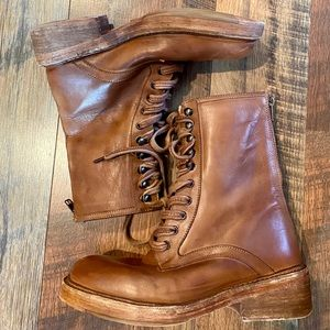 FREE PEOPLE Santa Fe Lace Up Leather Combat Boots